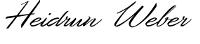 Unterschrift der Pflegedienstleitung Heidrun Weber